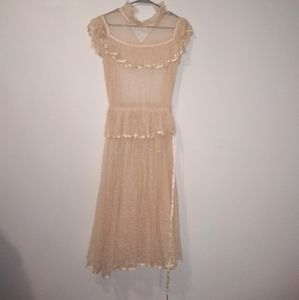 Vintage Lace Style See Through Dress